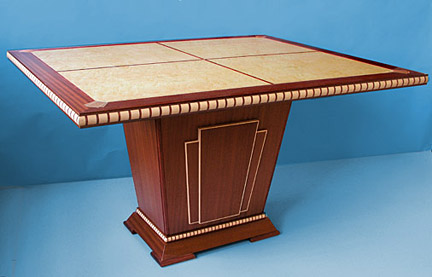art deco dining game table