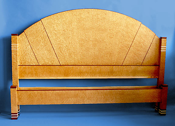 birdseye art deco bed