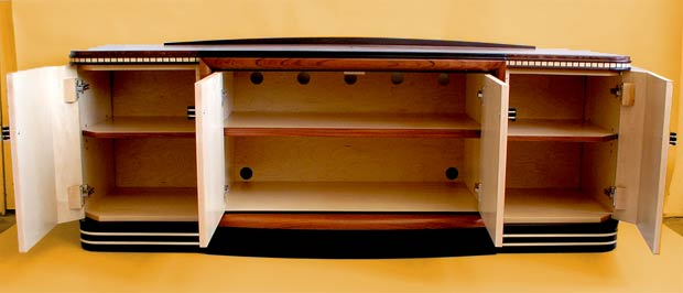 art deco audio cabinet storage