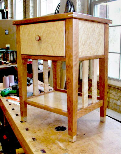Birdseye Maple End Table
