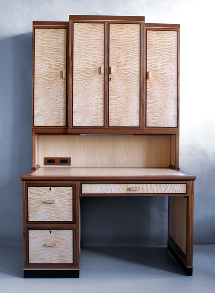 Quilted Maple Hutch Desk
