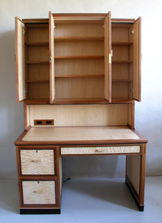 secretary hutch shelving