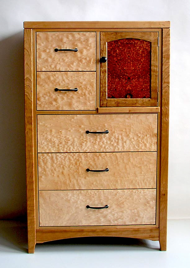 quilted maple  cherry dresser