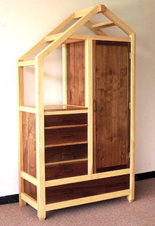 unique handmade wardrobe walnut