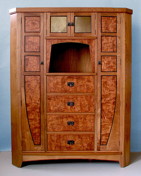 arts and crafts corner cabinet