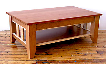 mission style television table