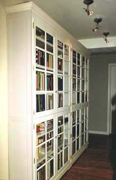 french door bookcases