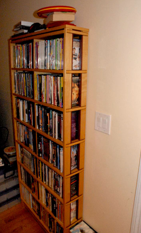 tall dvd rack