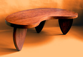 kidney shape table