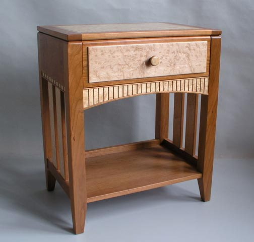 birdseye maple night table end table