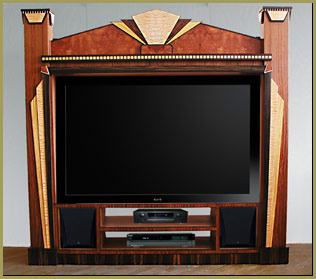 art deco theater entertainment center