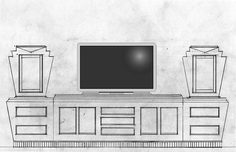 art deco entertainment center design