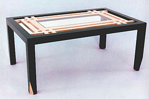 Coffee Table with Safety Glass
