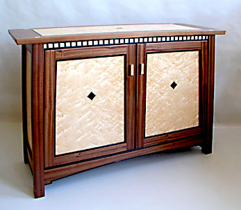 Arts and Crafts style stereo cabinet