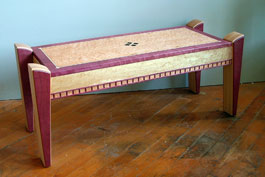Purpleheart coffee table