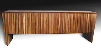 zebrawood audio video cabinet