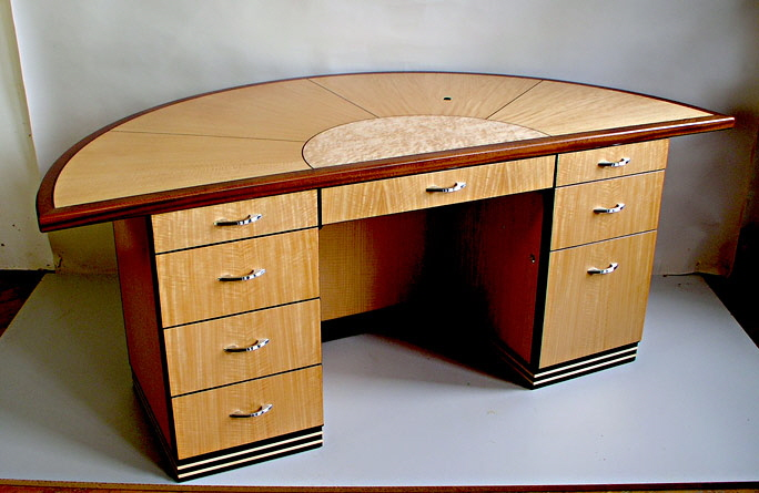 Fabulous Art Deco Half Circle Desk MG16