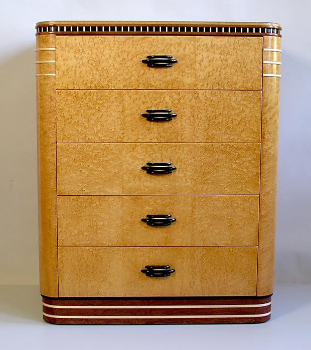 Birdseye Art Deco Dresser