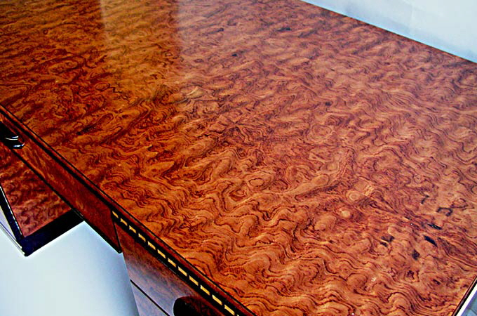 Bubinga Art Deco Desk