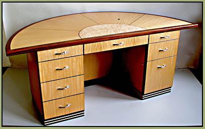 Art Deco Stools Curved Desk Thumb